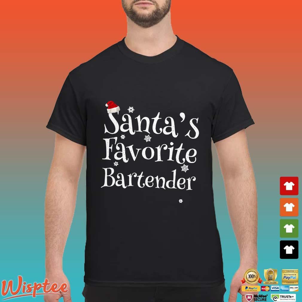 Santa's Favorite Bartender Christmas Shirt