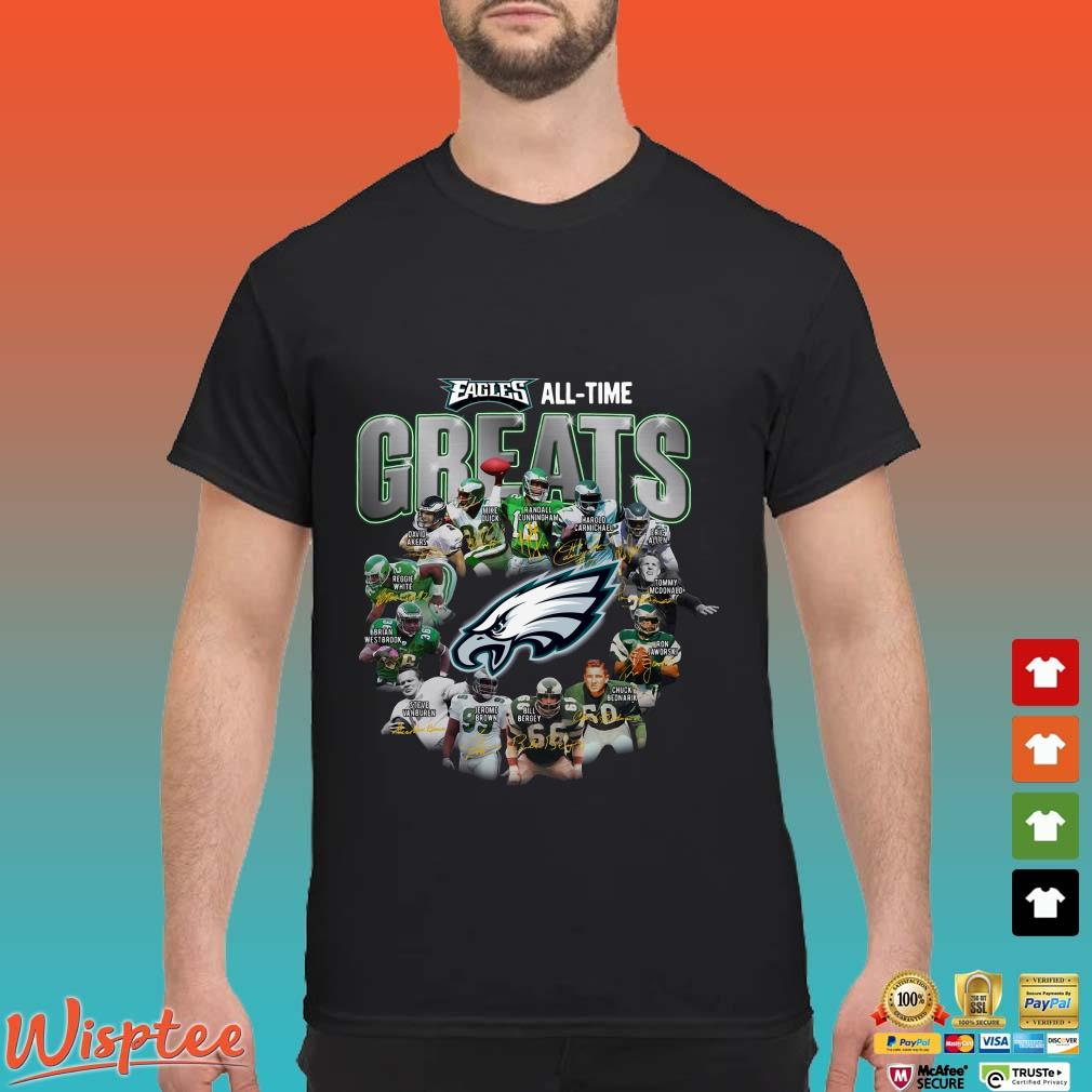 Official Philadelphia Eagles all time greats all players signature shirt