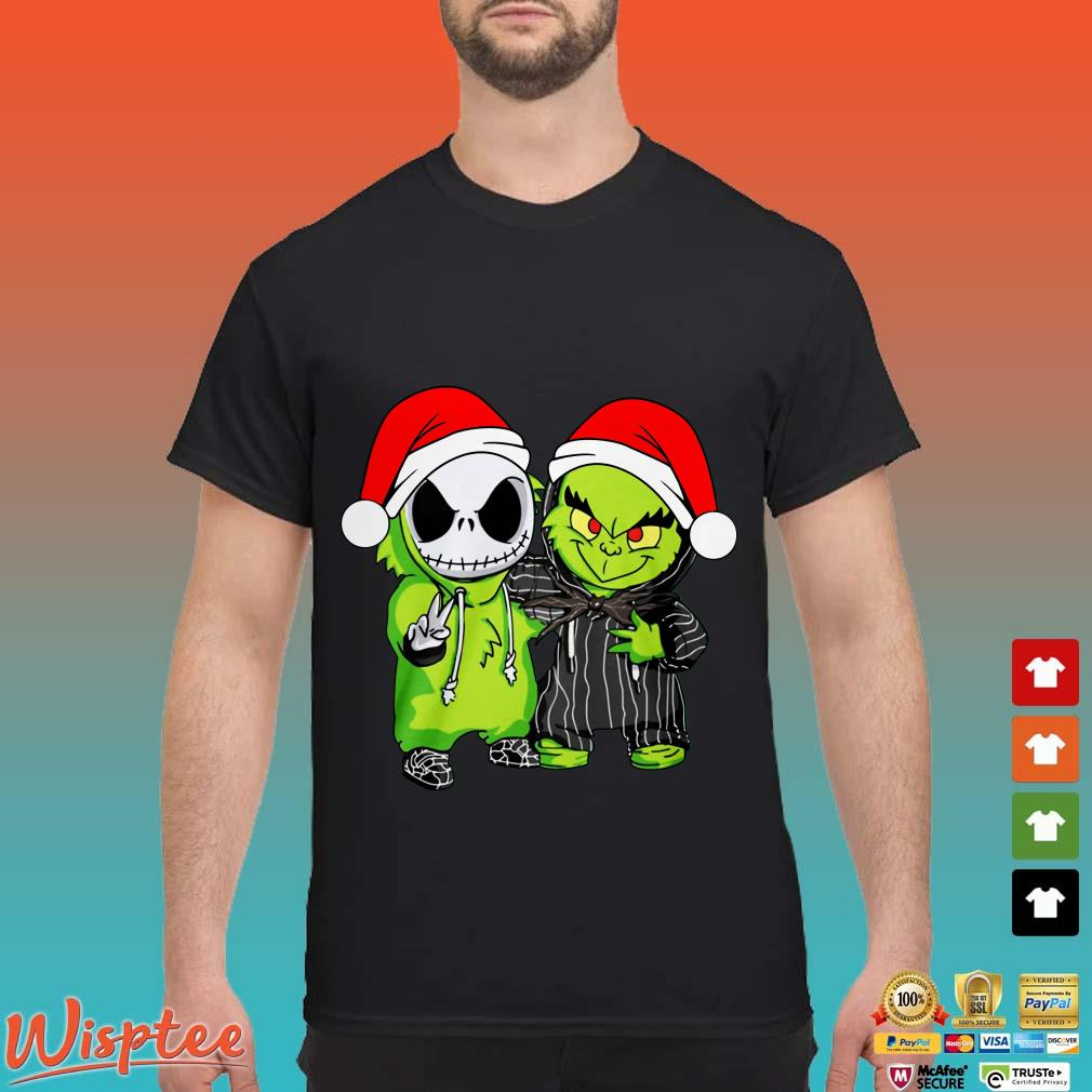Santa Christmas Jack Skellington And Grinch Shirt