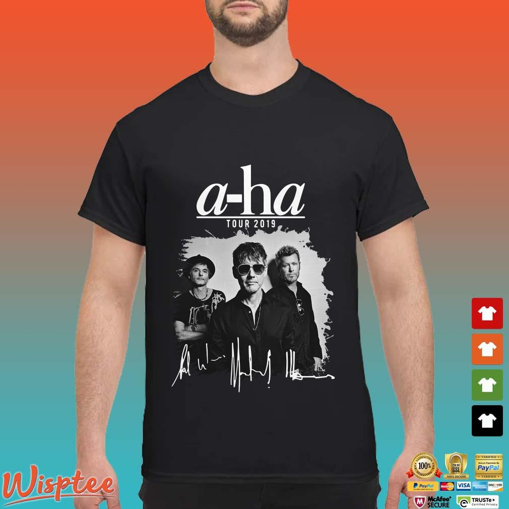 A-ha Tour 2019 Signatures shirt