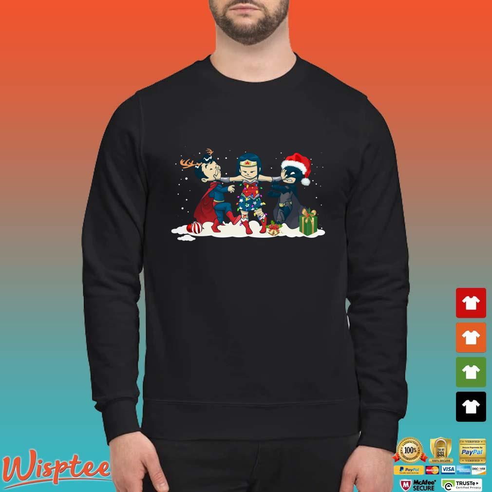 Wonder woman Batman vs Superman chibi Christmas shirt