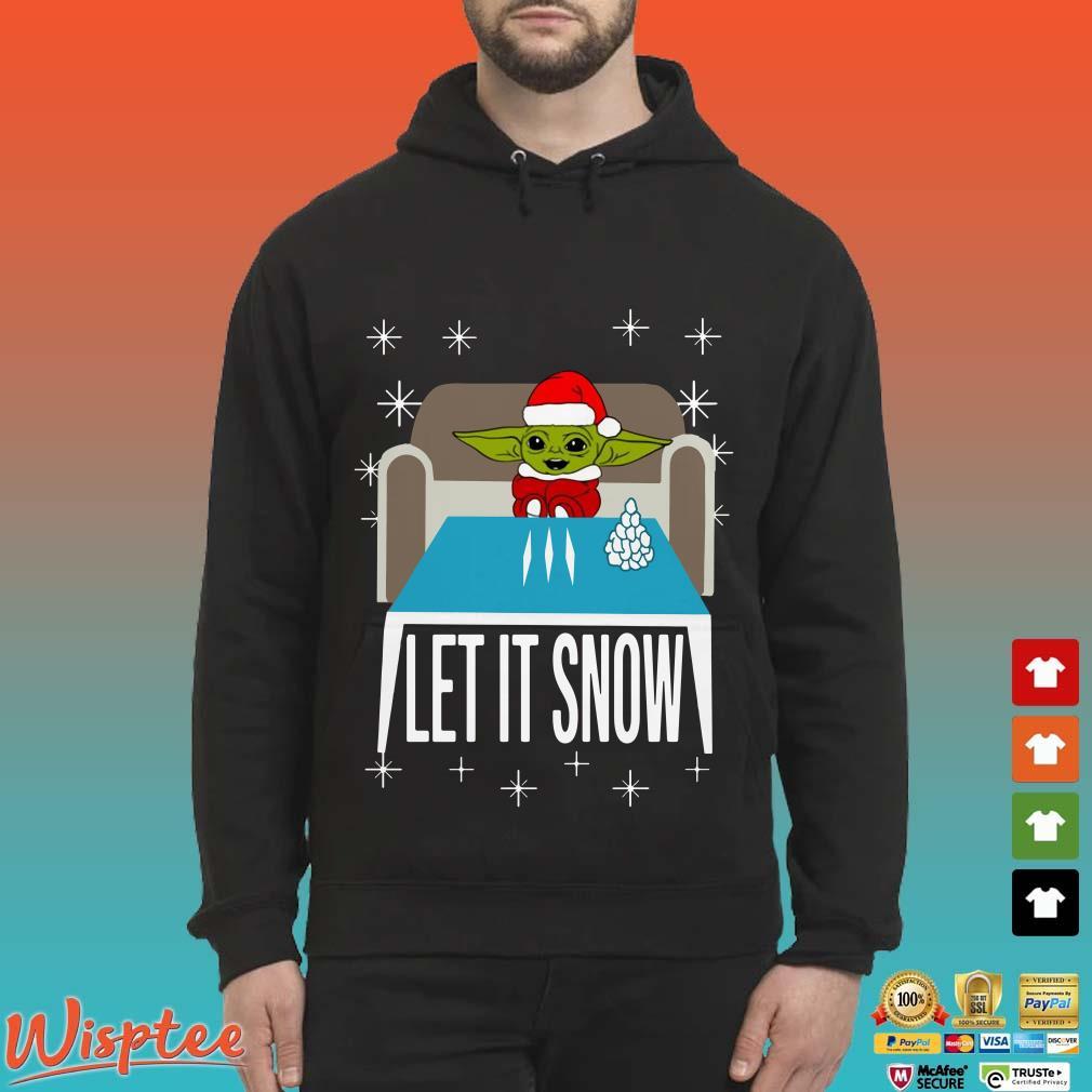 Cocaine Santa Baby Yoda Let It Snow Shirt
