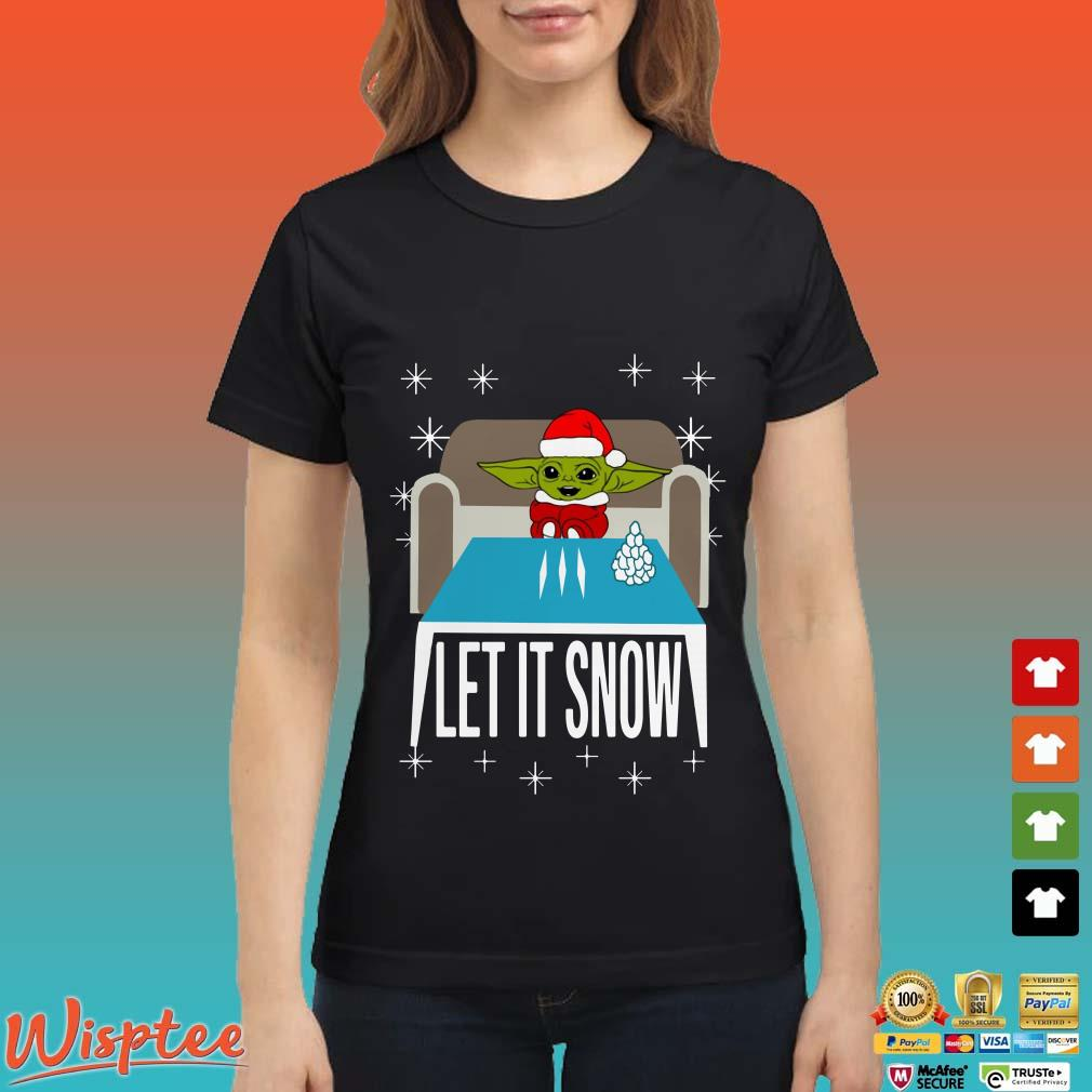 Cocaine Santa Baby Yoda Let It Snow Shirt