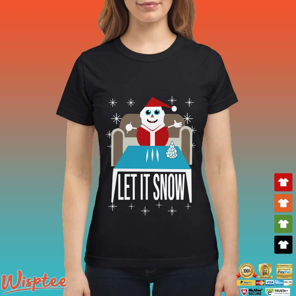 Walmart cocaine Santa let it snow Christmas Shirt