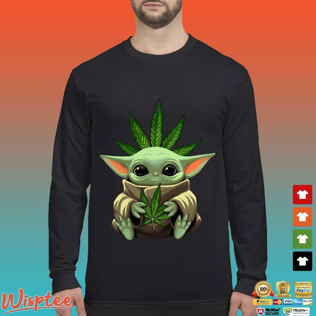Baby Yoda Hug Weed Shirt