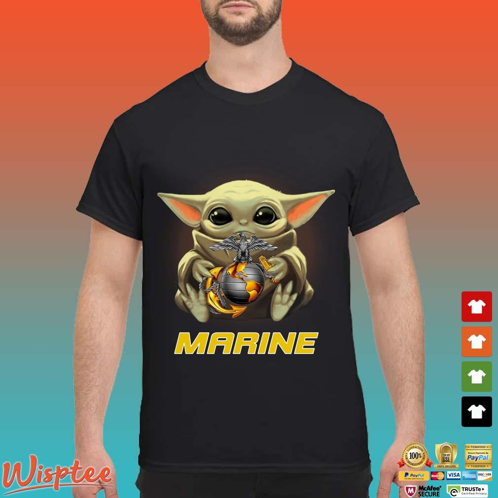 Baby Yoda Hug Marine Shirt