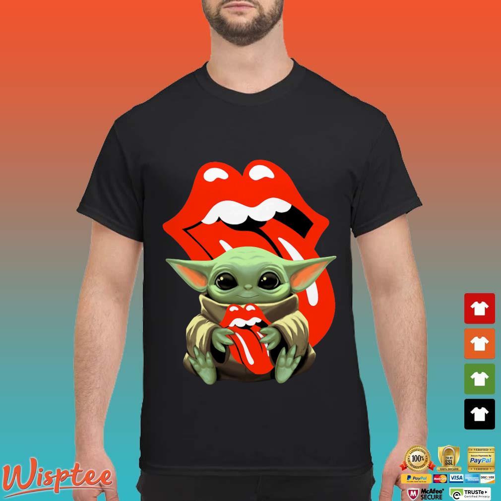 Baby Yoda Hug The Rolling Stones Shirt