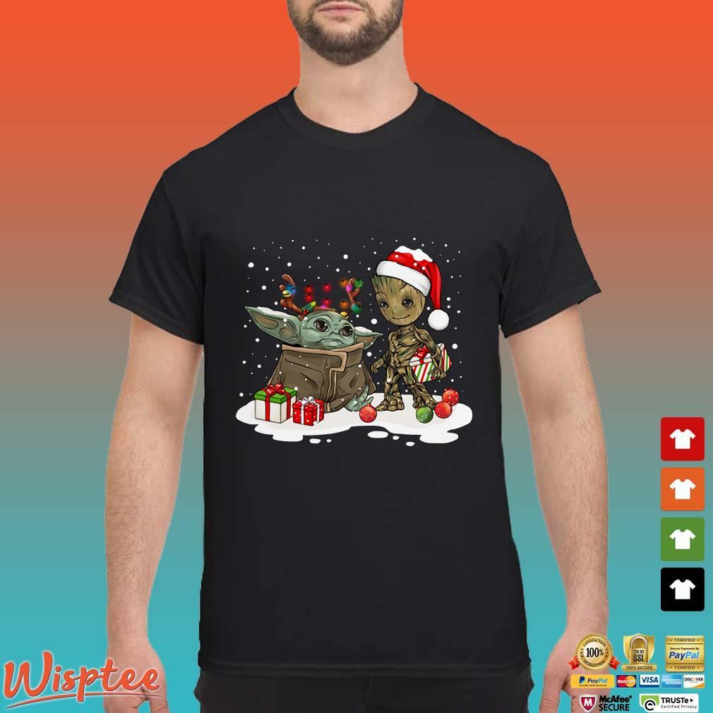 Baby Yoda And Santa Groot Ugly Christmas Shirt