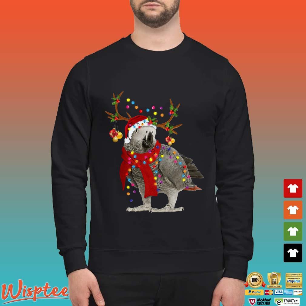 Santa Parrots Reindeer Light Christmas Shirt