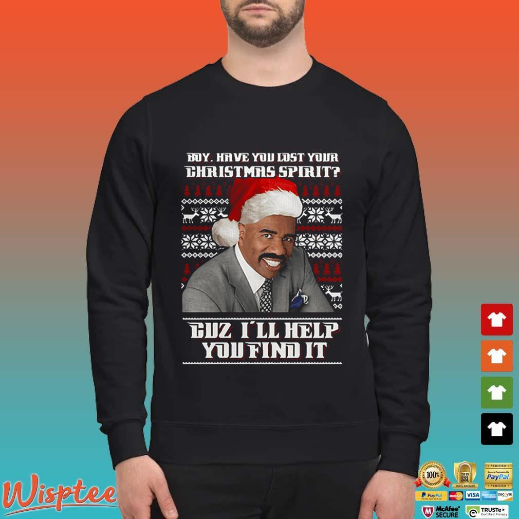 Steve Harvey Boy have you lost your Christmas spirit duz I'll help you find it ugly Shirt