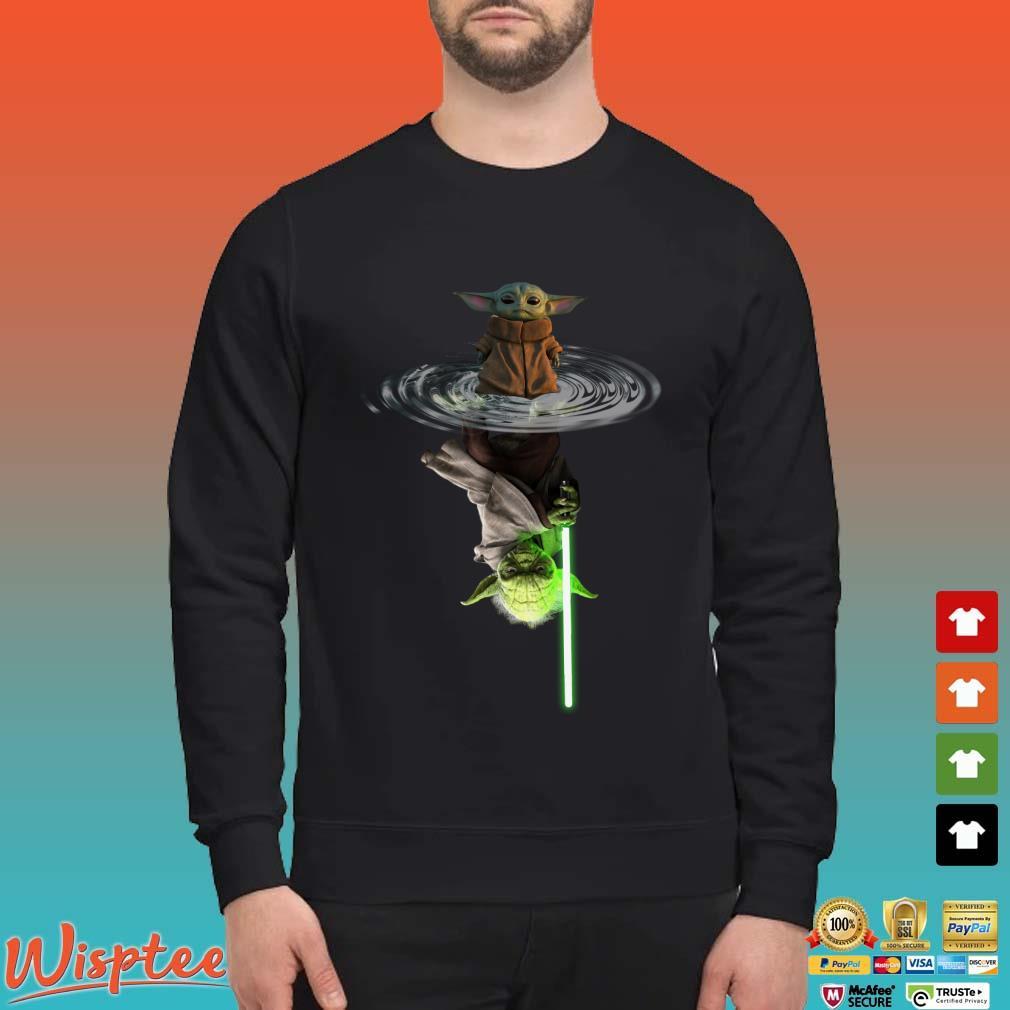Star Wars Baby Yoda Water Reflection Mirror Shirt