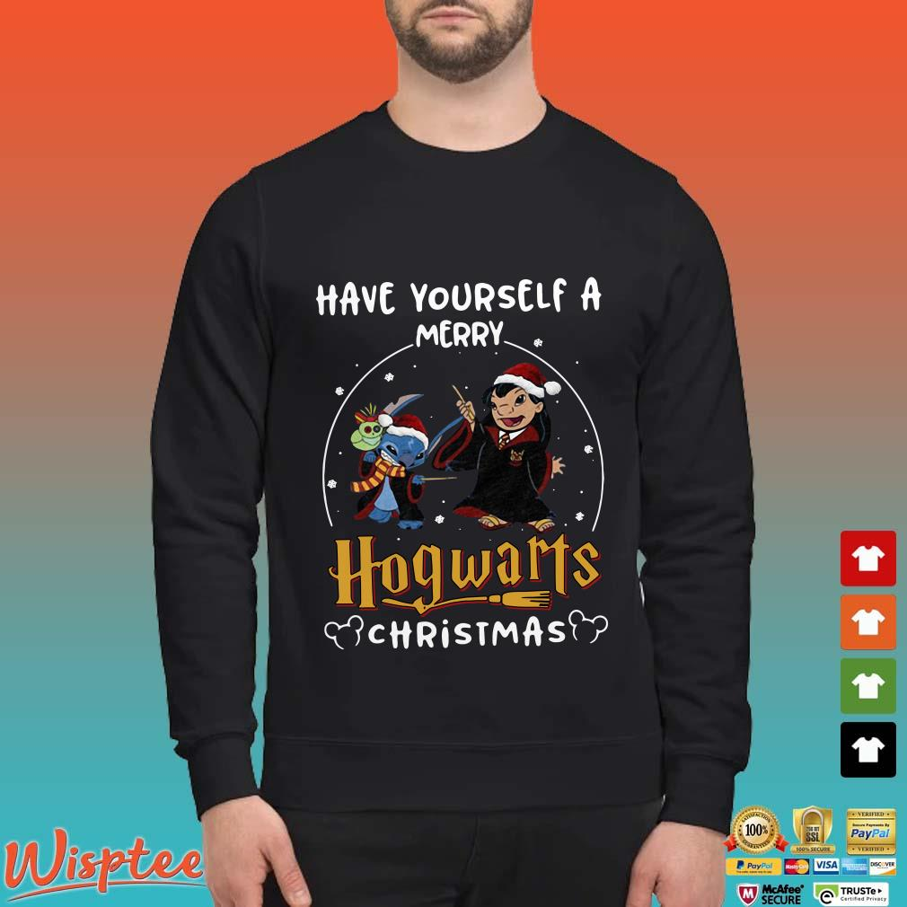 Harry Potter Stitch Have Yourself A Merry Hogwarts Christmas Shirt