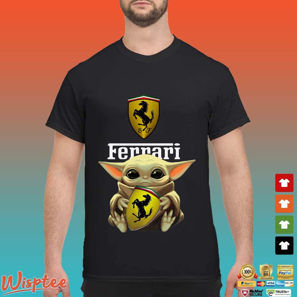 Baby Yoda Hug Ferrari Shirt