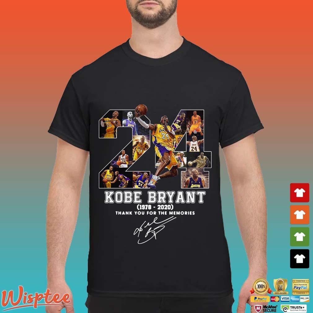 24 Kobe Bryant 1978-2020 thank you for the memories signature shirt
