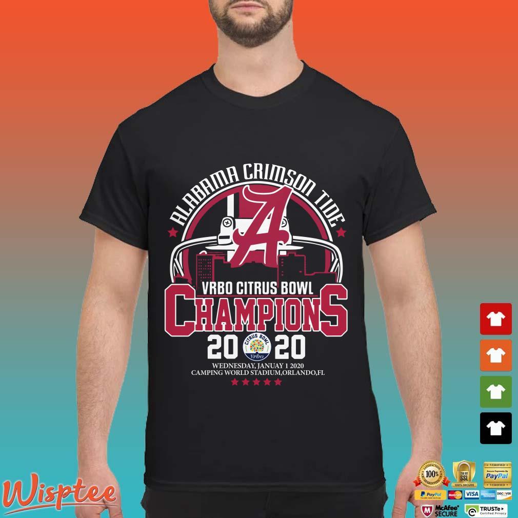 Alabama Crimson Tide Vrbo Citrus Bowl Champions 2020 Shirt