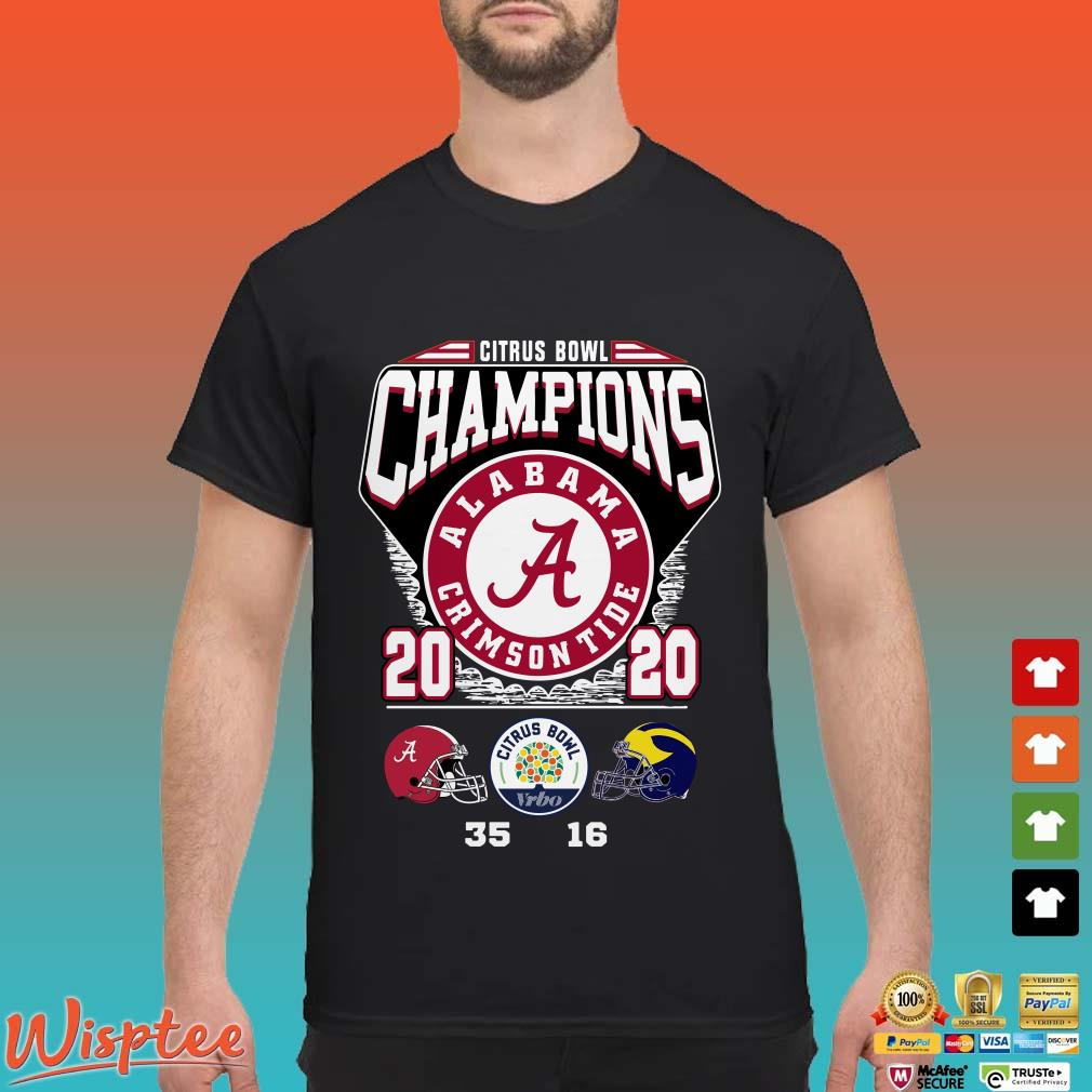 Alabama Crimson Tide Citrus Bowl Champions 2020 Shirt