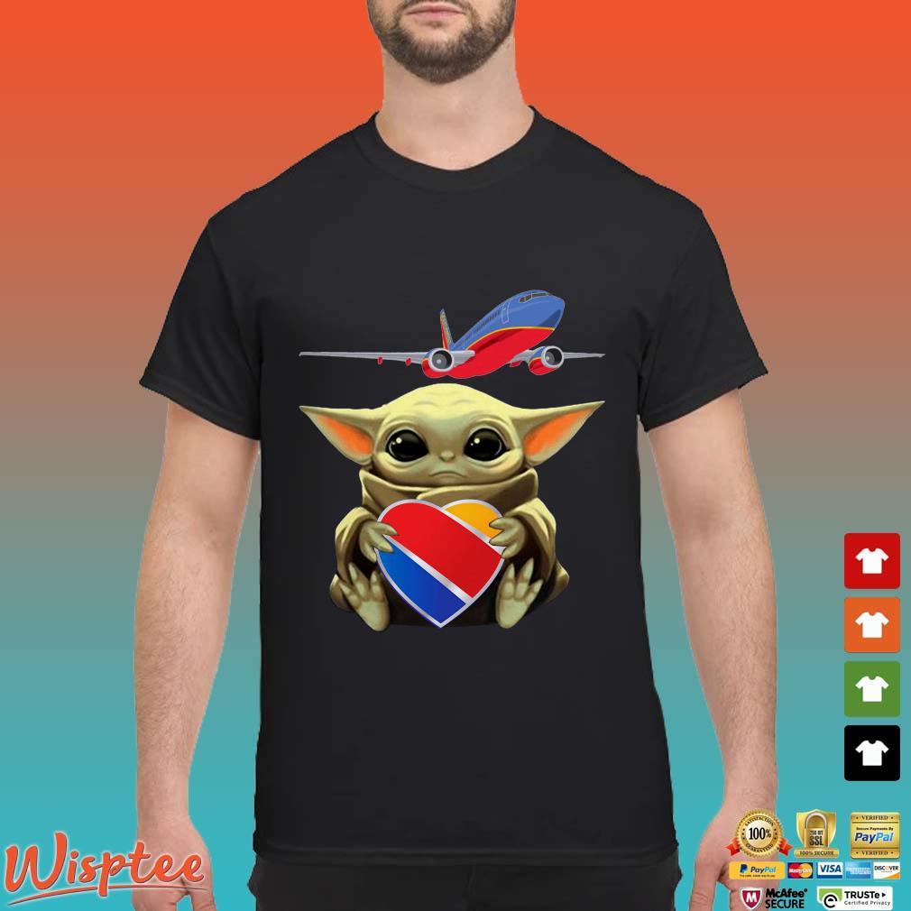 Baby Yoda Hug Southwest Airlines Shirt