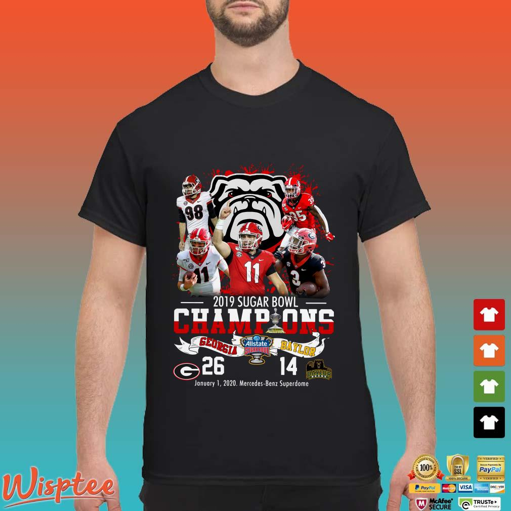 2019 Sugar Bowl Champions Georgia Bulldogs Shirt