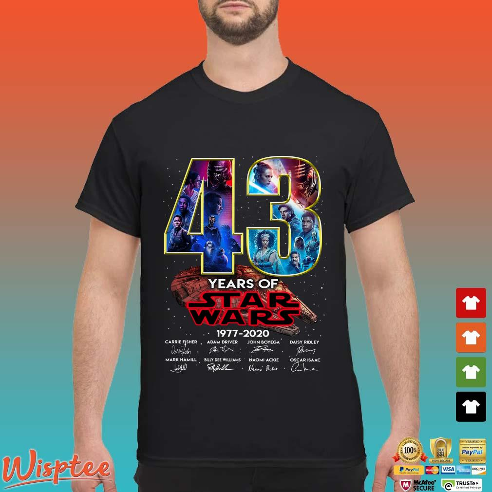 43 Years Of Star Wars 1977-2020 Rise Of Skywalker Shirt