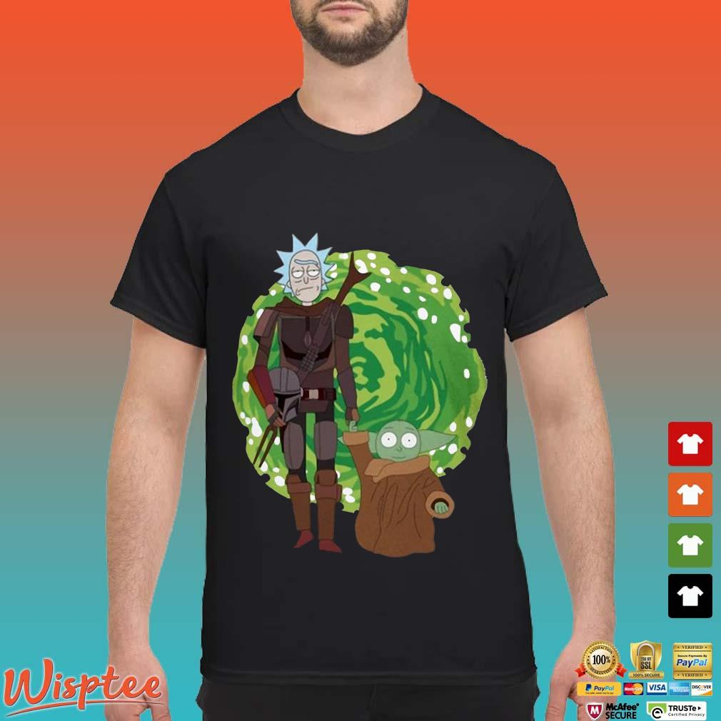Rick Sanchez And Baby Yoda The Mandalorian Shirt