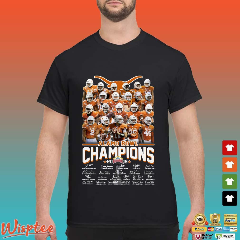 Alamo Bowl Champions 2019 Signatures Shirt