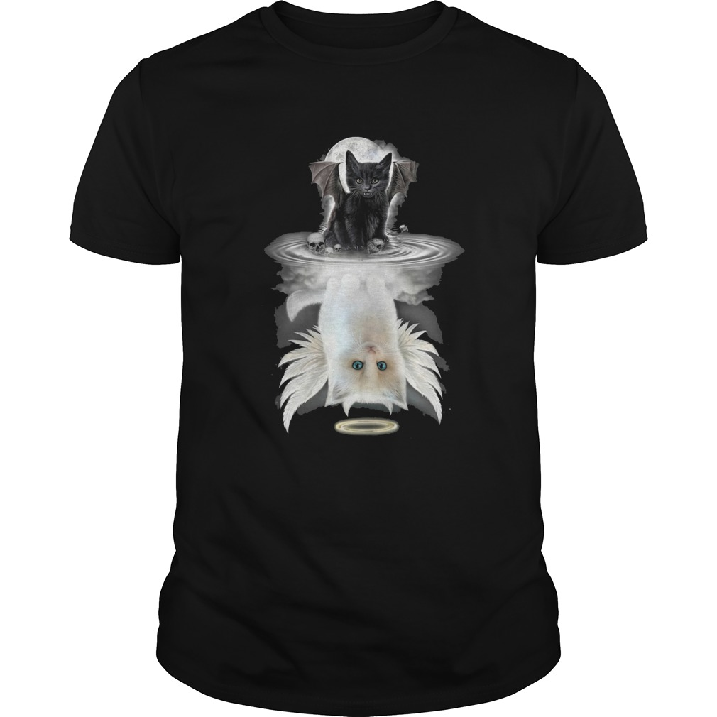 Black Bat Cat Water Reflection shirt