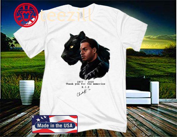 RIP Black Panther's Chadwick Boseman 1977 2020 Tee