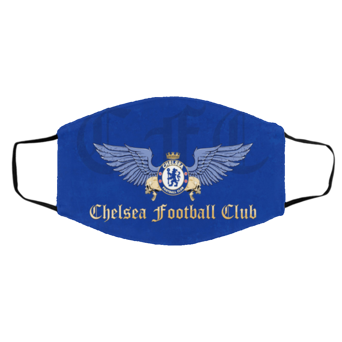 -Chel-sea FC Foo-tball Cloth Face Mask