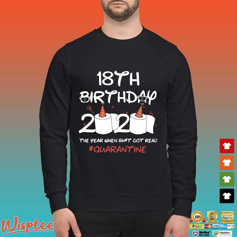 18th Birthday 2020 Toilet Paper The Year When Shit Got Real Quarantine Shirt Sweater den