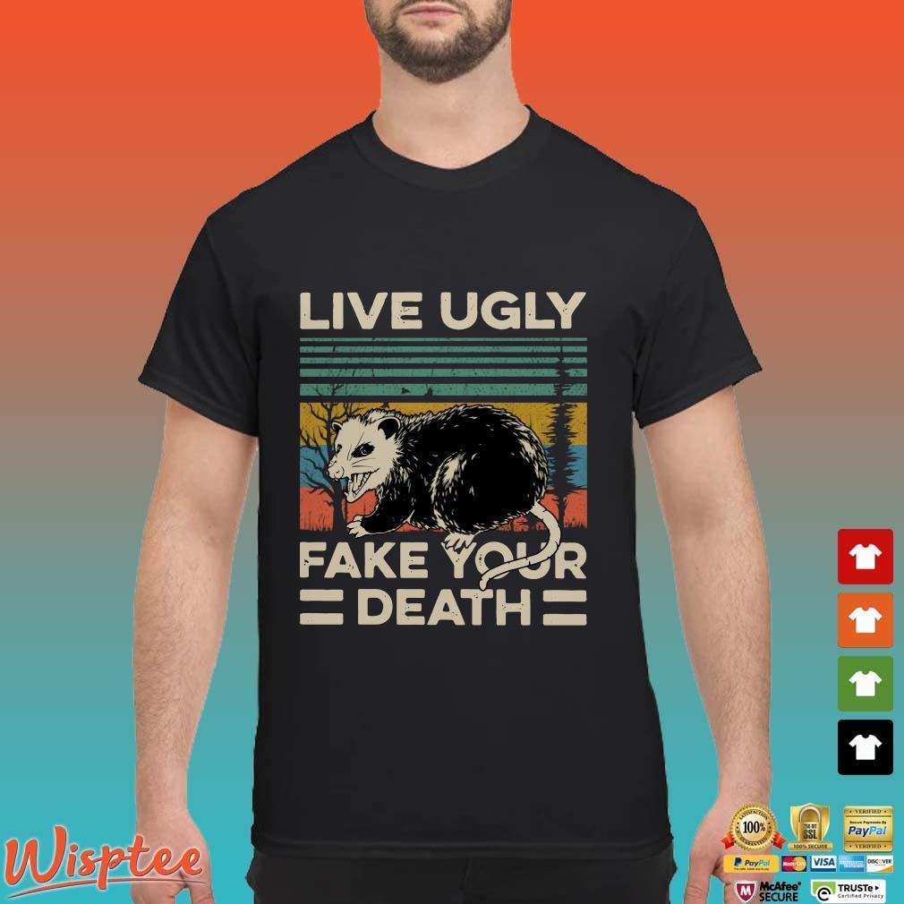 Opossum live ugly fake your death vintage t-shirt