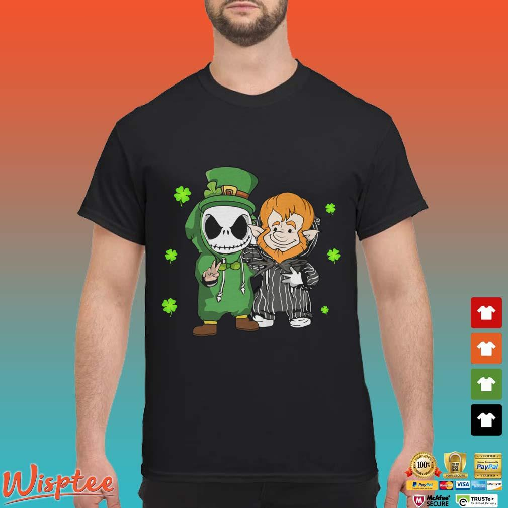 Baby Jack Skellington And Gnome St Patrick's Day Shirt