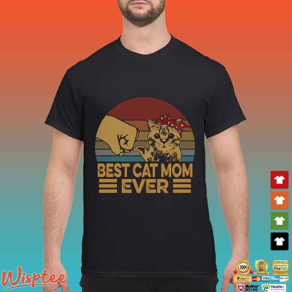 Vintage Best Cat Mom Ever Shirt