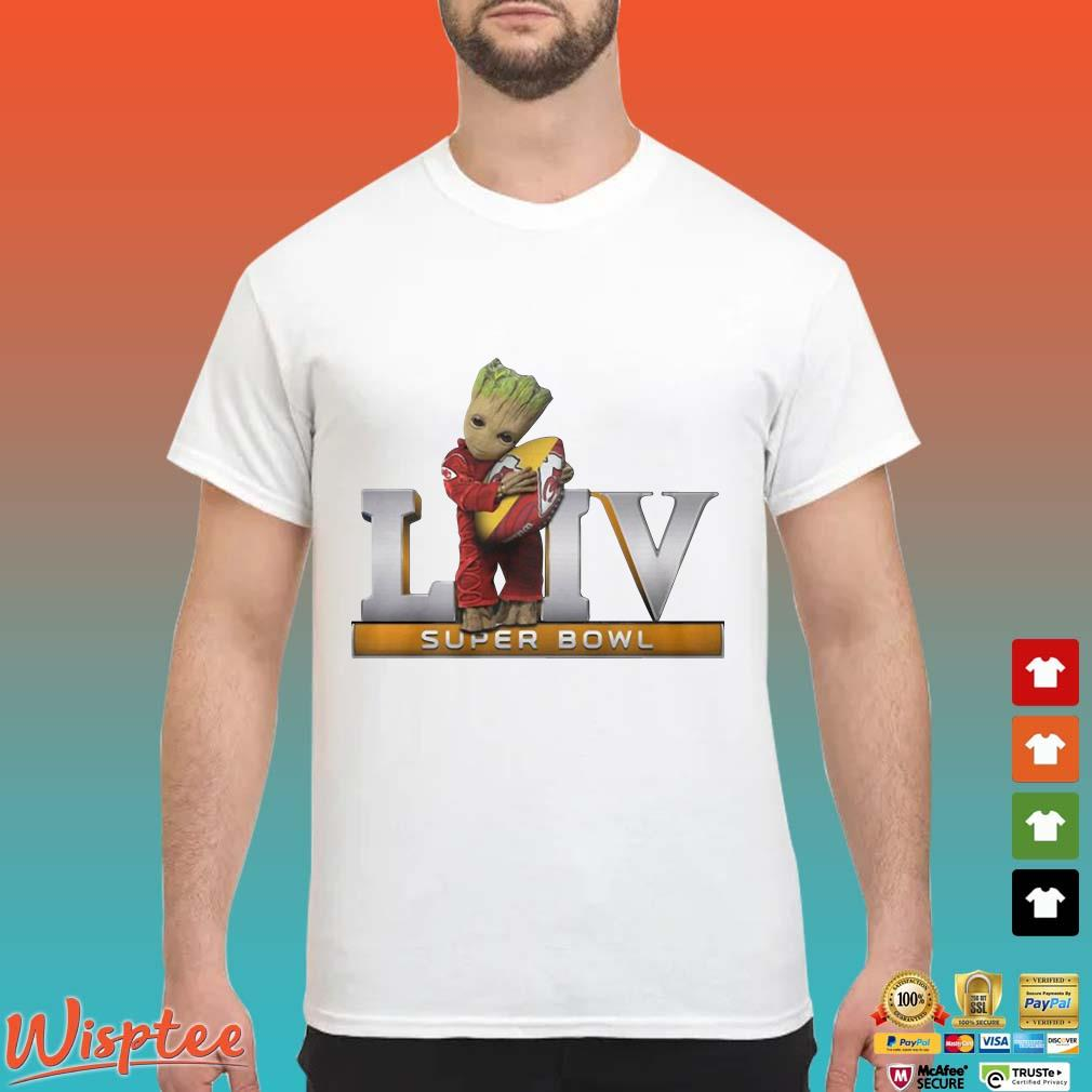 Baby Groot Hug Kansas City Chiefs LIV Super Bowl Shirt