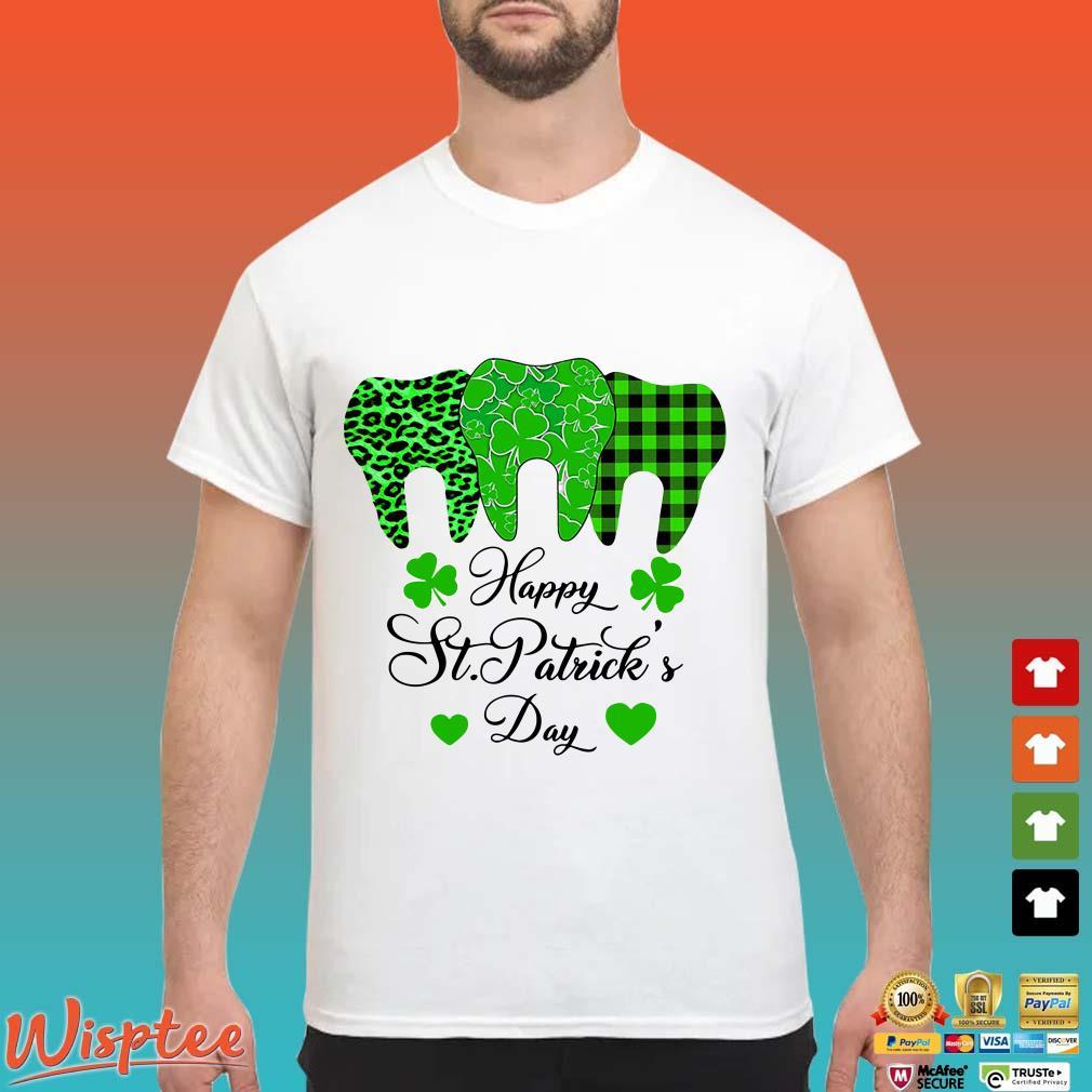 Tooth Shamrock Happy St.Patrick's Day Shirt