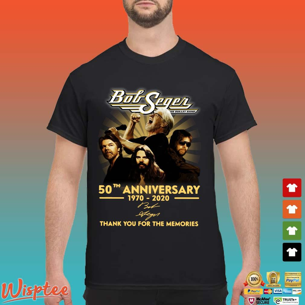 Bob Seger 50th Anniversary 1970-2020 Signature Thank You For The Memories Shirt