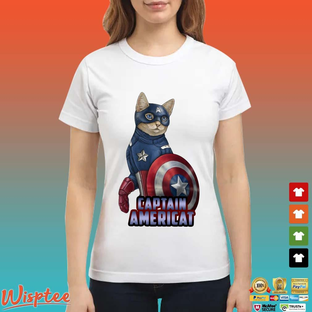 Cats Captain Americat Shirt Ladies trang