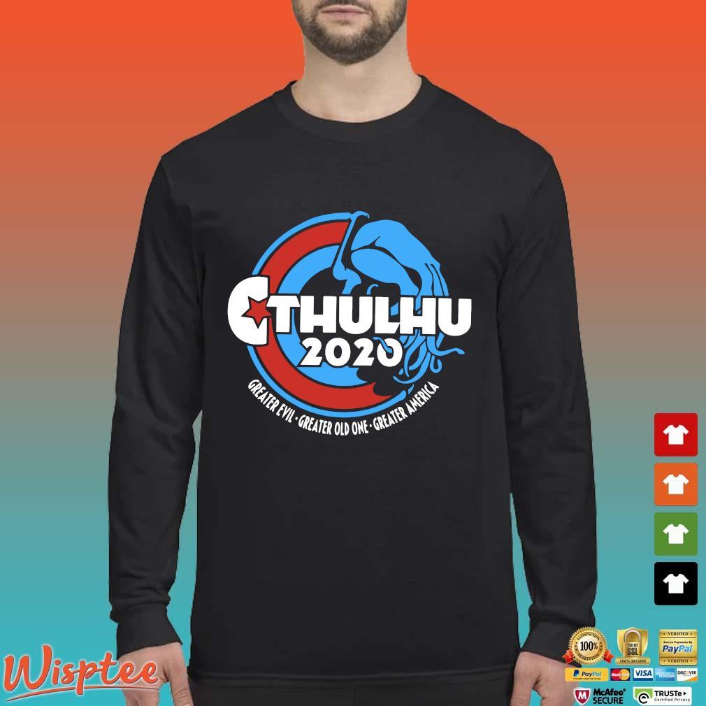 Cthulhu For President 2020 T Shirt Long Sleeved den