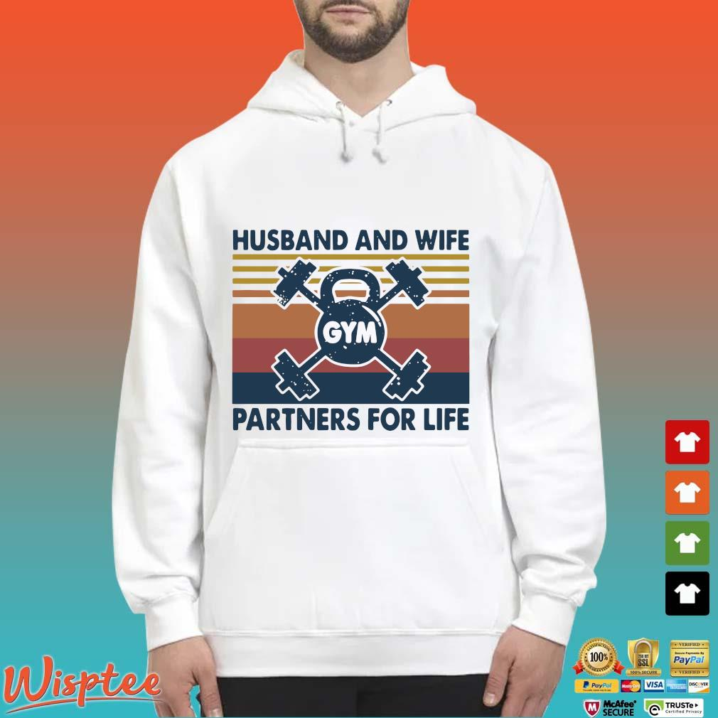 Gym Husband And Wife Partners For Life Vintage Shirt Hoodie trang