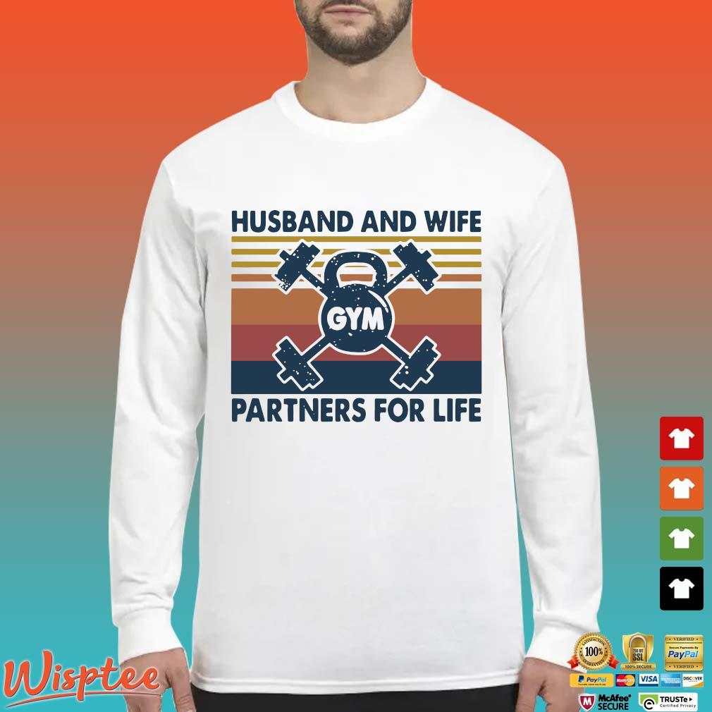 Gym Husband And Wife Partners For Life Vintage Shirt Long Sleeved trang