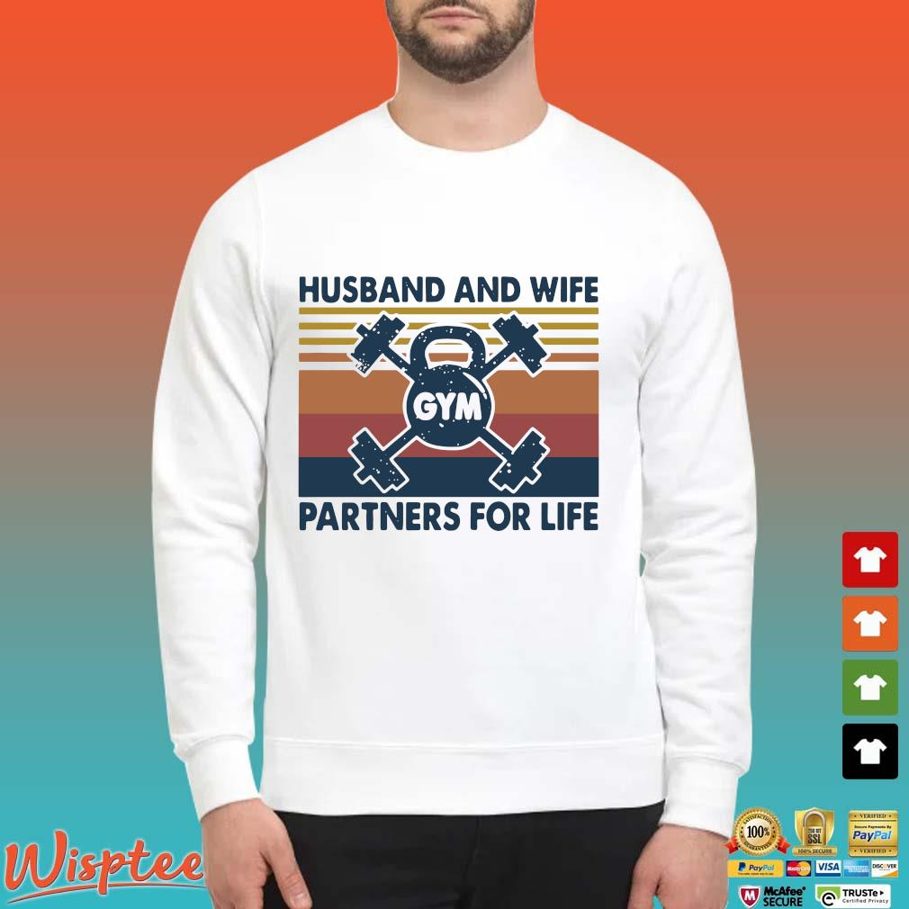 Gym Husband And Wife Partners For Life Vintage Shirt Sweater trang