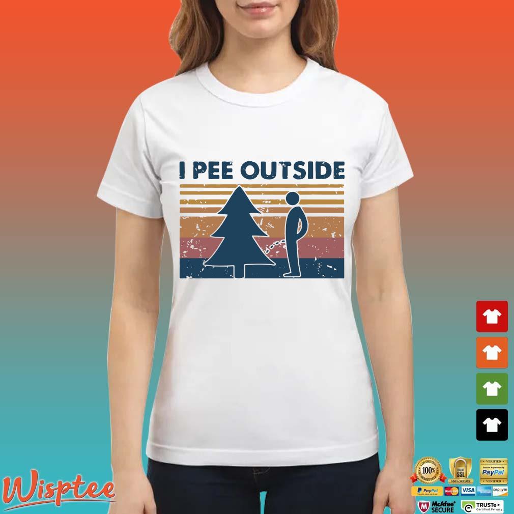 I Pee Outside Camping Vintage Shirt Ladies trang