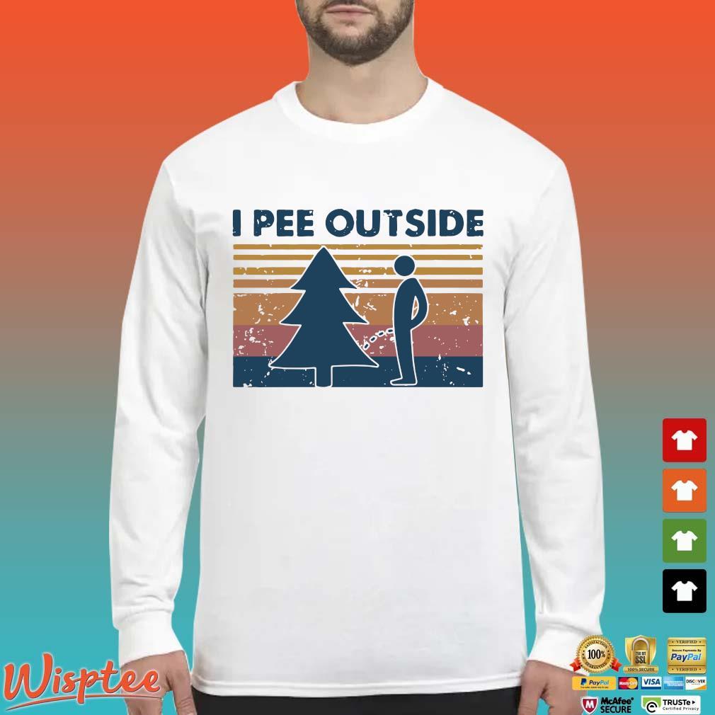 I Pee Outside Camping Vintage Shirt Long Sleeved trang