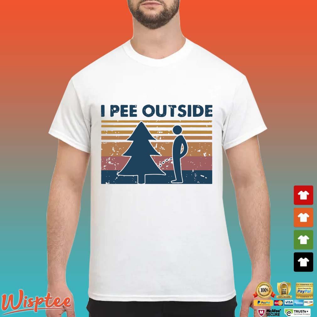 I Pee Outside Camping Vintage Shirt