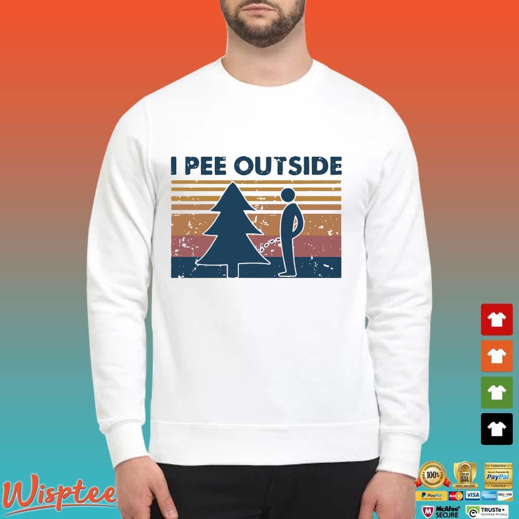 I Pee Outside Camping Vintage Shirt Sweater trang