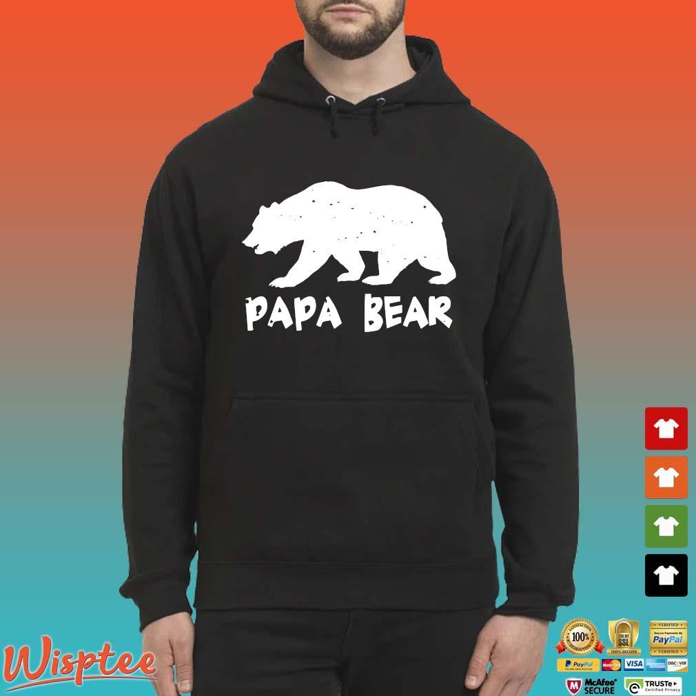Papa Bear Funny Matching Shirt Hoodie den