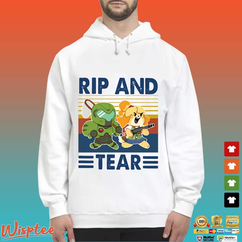 Rip And Tear Vintage Shirt Hoodie trang