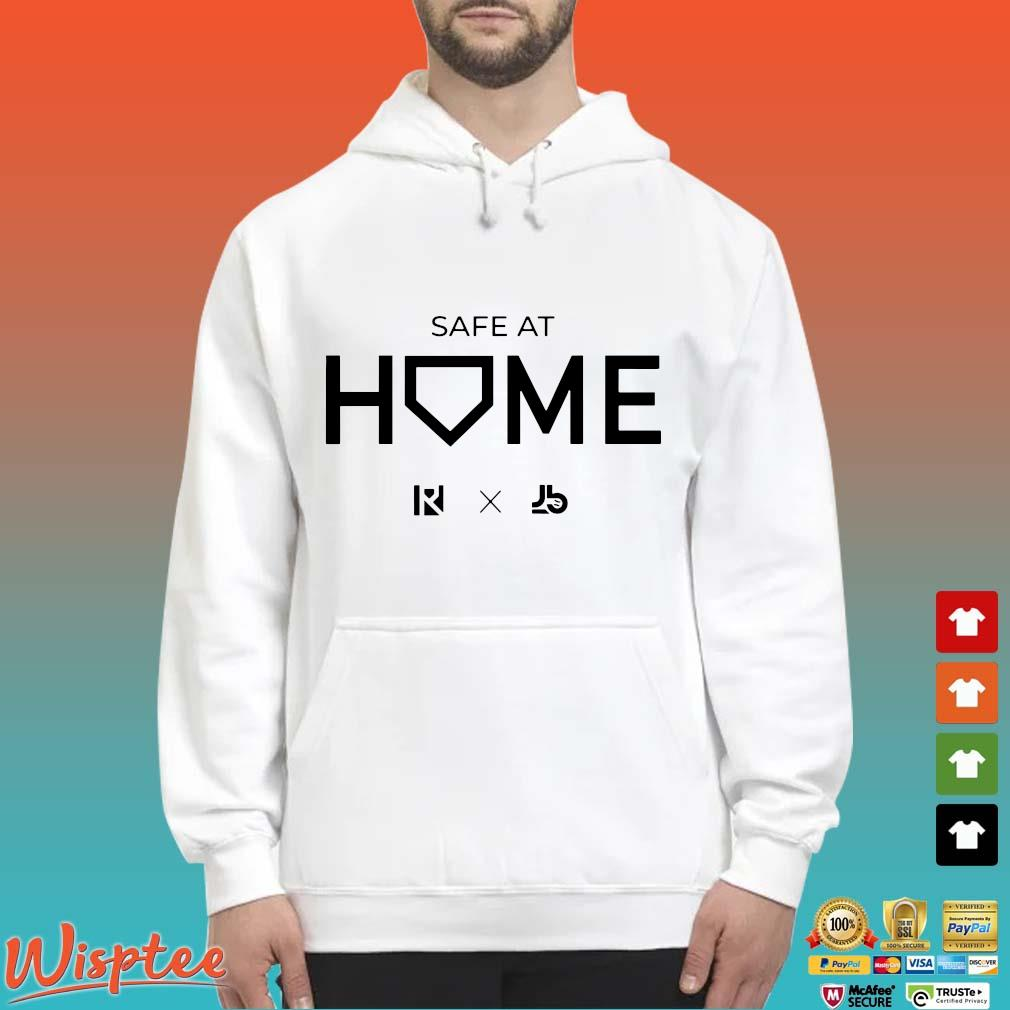 Routine X Justbats Safe At Home Tee Shirts Hoodie trang