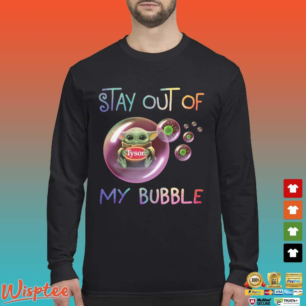 Star Wars Baby Yoda Hug Tyson Covid 19 Stay Out Of My Bubble Shirts Long Sleeved den