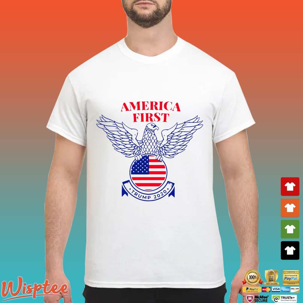 Trump Nazi Eagle America First Tee Shirt