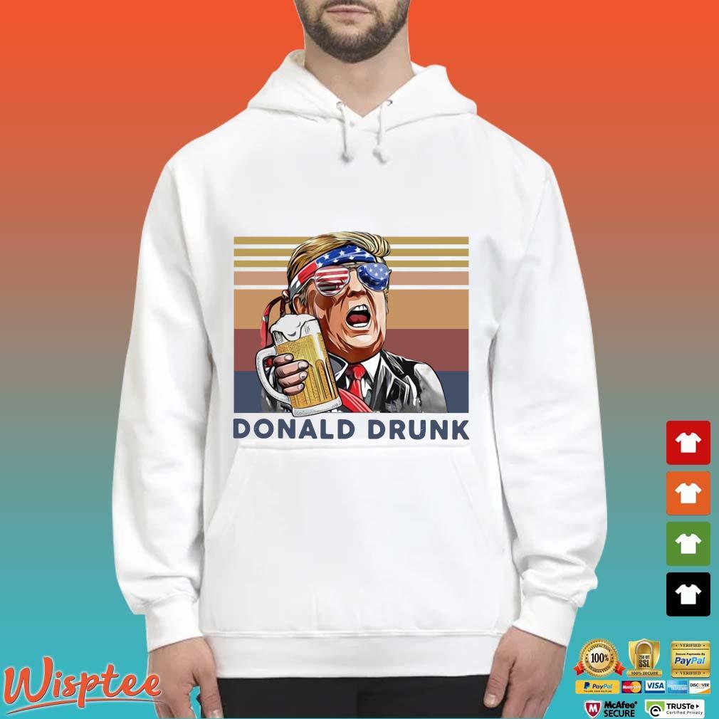 US Drink Donald Drunk Independence Day Vintage Shirt Hoodie trang